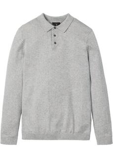 Пуловер с воротником поло Bonprix