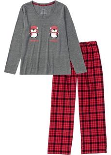 Пижама c брюками из фланели Bonprix