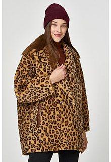 Шуба из овечьей шерсти леопардовой расцветки Virtuale Fur Collection
