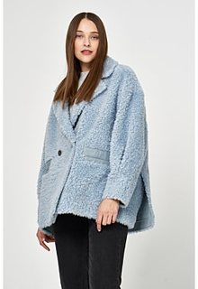 Шуба из овечьей шерсти с английским воротником Virtuale Fur Collection