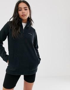 Черный пуловер из искусственного меха Columbia Canyon Point