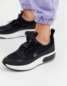 Кроссовки с черной и серой отделкой Nike Winter Air Max Dia-Черный