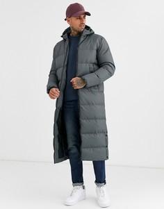 Серая удлиненная дутая куртка Soul Star-Серый