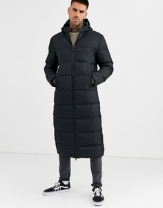 Черная удлиненная дутая куртка Soul Star-Черный