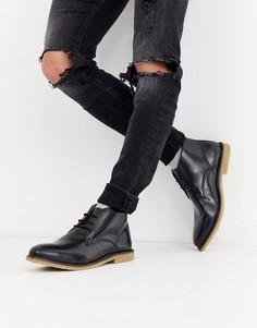 Кожаные ботинки чукка French Connection-Черный