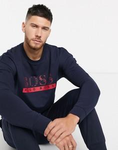 Темно-синий свитшот с логотипом BOSS bodywear