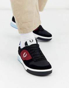 Черные замшевые кроссовки Fred Perry B330-Черный