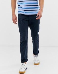 Темно-синие прямые брюки с 5 карманами Esprit-Темно-синий