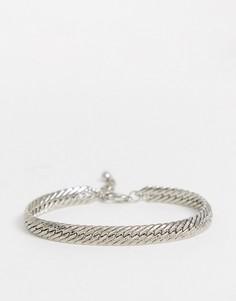 Серебристый браслет-цепочка ASOS DESIGN-Серебряный