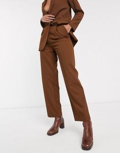 Коричневые брюки от комплекта Topshop-Коричневый