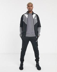 Спортивный костюм в стиле колор блок Puma-Черный