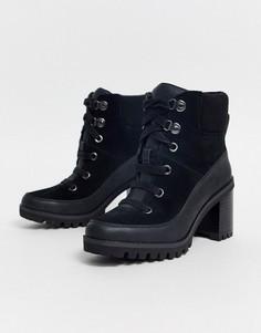 Черные ботинки на каблуке UGG-Черный