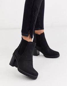 Черные ботинки на массивном каблуке UGG-Черный