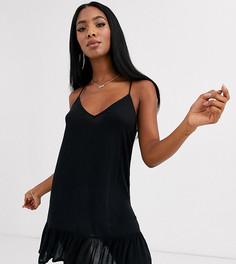 Черное свободное пляжное платье мини Rare Bird-Черный