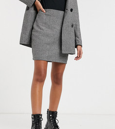 Короткая строгая юбка-трапеция серого цвета Parisian Petite-Серый