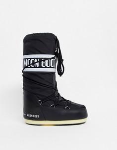 Черные зимние ботинки Moon Boot - Icon-Черный