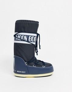 Черные зимние ботинки Moon Boot - Icon-Синий
