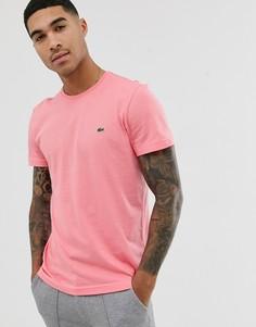 Розовая футболка с логотипом Lacoste-Розовый