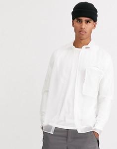 Прозрачная рубашка с 3d карманом ASOS DESIGN-Белый