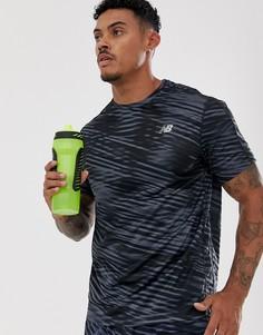 Черная футболка с принтом New Balance - Running-Черный