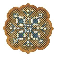 """Набор для вышивания крестом на основе Созвездие """"Новогодняя игрушка """"Снежинка"""""""