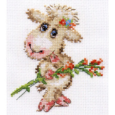 "Набор для вышивания АЛИСА ""Милая овечка"" 10х12см, 0-105"