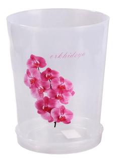 Горшок цветочный для орхидеи с поддоном, объем 3,5 л (прозрачный) Alternativa