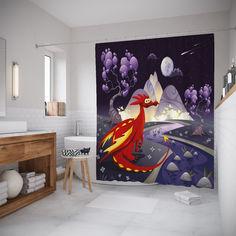 Штора для ванной JoyArty «Драконий уют» 180x20