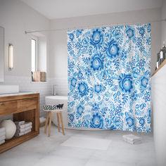 Шторы для ванной JoyArty «Зимний сад» 180x200 см