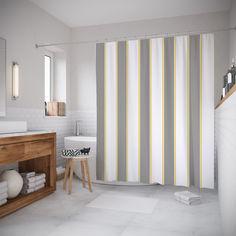Шторы (фотошторы) для ванной JoyArty «Неприметные полосы» 180x20