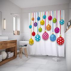 Шторы для ванной JoyArty «Веселые шарики» 180x200