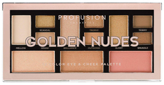 Набор для макияжа PROFUSION Golden Nudes Color Eye & Cheek Palette