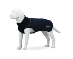 Попона для собак Scruffs Thermal, согревающая, унисекс, темно-синяя, длина спины45 см