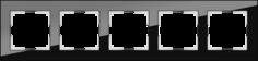 Рамка для выключателя Werkel WL01-Frame-05 a031801 черный