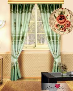 Классические шторы КаСЛ Temple Цвет: Фисташковый