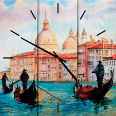 Настенные часы Лодочники в Венеции 30 х 30 см Дом Корлеоне