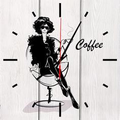 Настенные часы Кофе 50 х 50 см Дом Корлеоне