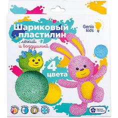 Набор для детской лепки Dream Makers «Шариковый пластилин 4 цвета»
