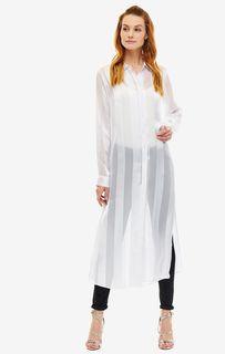 Белая туника-рубашка на пуговицах Guess