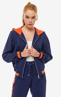 Короткая синяя куртка с капюшоном Tom Tailor Denim