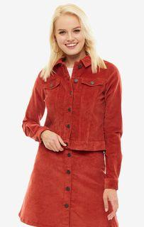 Красная вельветовая куртка на болтах Noisy May