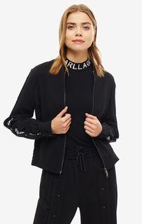 Черная куртка на молнии Karl Lagerfeld