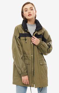 Куртка цвета хаки со скрытым капюшоном Novaya
