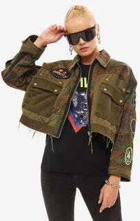 Куртка в стиле милитари с нашивками Diesel