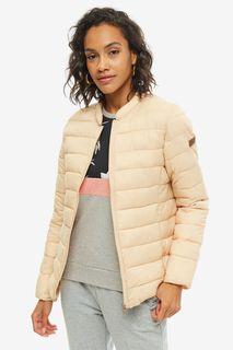 Бежевая легкая куртка с чехлом Roxy