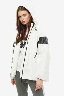 Белая куртка свободного кроя Liu Jo Sport