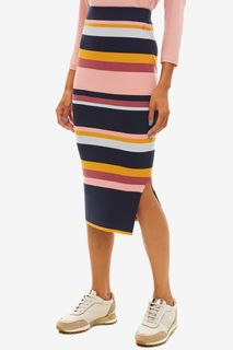 Облегающая трикотажная юбка в полоску Tom Tailor Denim