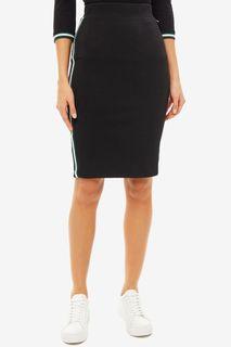 Трикотажная облегающая юбка черного цвета Tom Tailor Denim