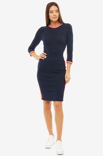 Трикотажная облегающая юбка синего цвета Tom Tailor Denim
