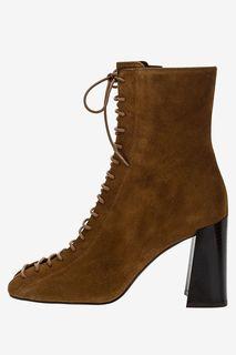 Замшевые ботинки на устойчивом каблуке Jonak